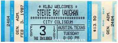 7 1986-89 STEVIE RAY VAUGHAN FULL UNUSED CONCERT TICKETS VINTAGE laminated repro