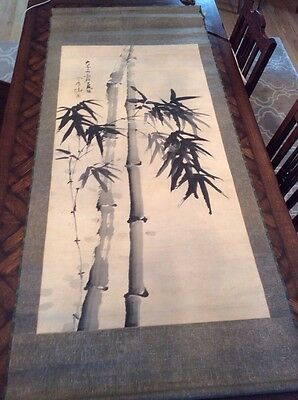 large Antique Japanese SCROLL Painting * Asian Art