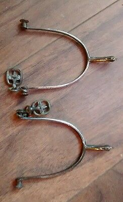 Vintage Metal Horse Spurs with Spikes - Cowboy Equestrian Riding Line Dancing