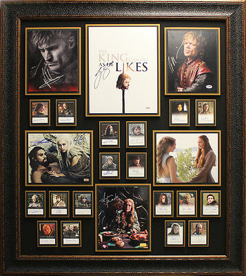 Game of Thrones Cast Signed by 25 Framed Collage.