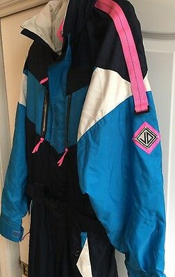 Vtg Mens JD Sunvalley Hooded Snow Ski Suit Jacket Coat Snowsuit Mens Sz Small