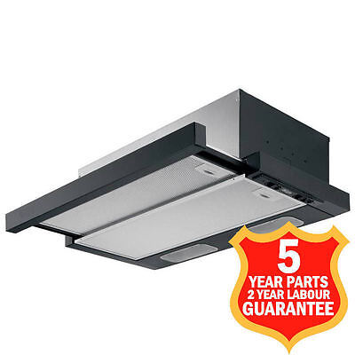 50cm Cooker Hood Canopy Extractor Built-in Telescopic S250B Black MADE IN ITALY