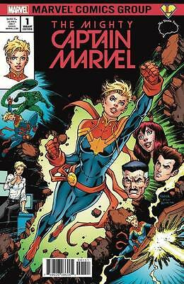The Mighty Captain Marvel 1 Presale Brain Trust variant set by Todd Nauck!