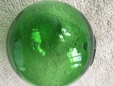 Vintage Fishing Float Clear Green 15-Inch Circumference 5-In Diameter
