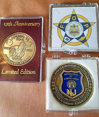 Lot 1 Apollo 11 First Moon Landing July 20 1969, FOP Convention, NJ Dept of Corr