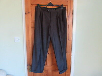 Perry ellis  northern soul / 50s twin pleated turn up trousers W 38 X L 30