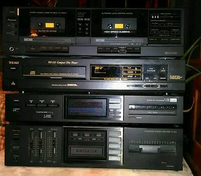 Sansui Stereo System D-550 WR Cassette T-700 Tuner A-770 Amp + Teac PD-135 CD