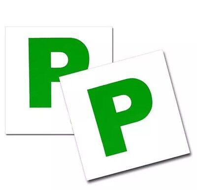 2 - Magnetic Passed Pass New Driver Green P Plate Plates For Car Vehicle