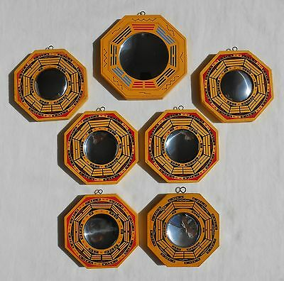 """H15 Feng Shui Bagua Mirrors 4.5"""" and 5.25"""" - concave and convex mirrors"""