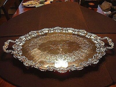 Large Ornate Antique Bigelow Kennard & Co. Serving Tray Circa 1863-1912