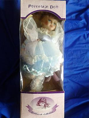 "Goldenvale Collection  Porcelain Doll Musical Rotating Ballerina ""barrie""  Nib!!"