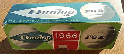 Dunlop 1966  for L.T.A.OFFICIAL TENNIS BALL  SCATOLA CON 3 PALLINE TENNIS