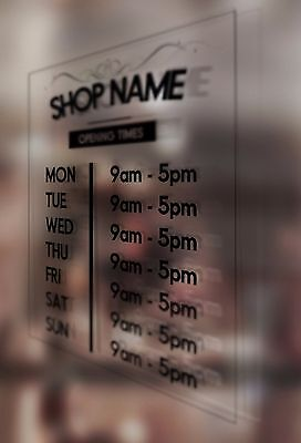 Barber Shop opening times wall sticker custom decal sign hairdresser salon