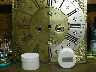 Antique silvered CLOCK DIAL 50g SILVERING powder & incl finishing / face silver