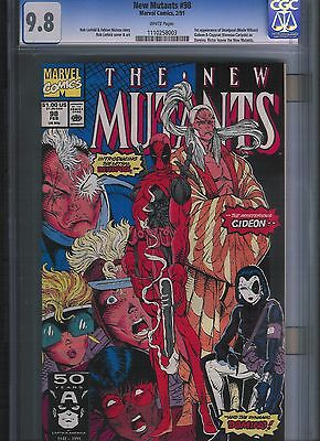 New Mutants # 98 CGC 9.8  White Pages. UnRestored