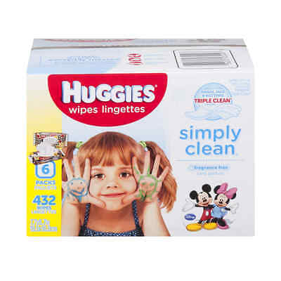 Huggies Simply Clean Wipes Fragrance Free - 432 CT Fast Free Shipping
