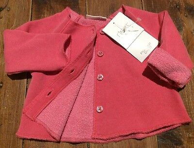 Next Baby UK Girl Pink Buttoned Jacket Top 3 Months Size 000 Brand New WithTag