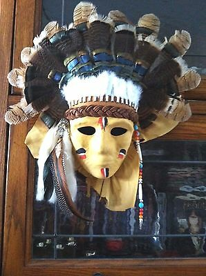 Leather American Indian masks