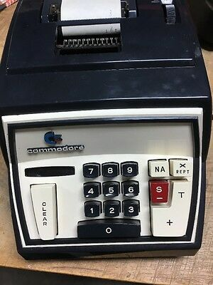 Vintage Commodore Office Products 202 Adding Machine W Case. Works Great