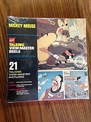 Gaf talking view-master reels sealed Mickey Mouse