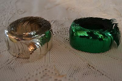 New Old Stock Aluminum Fringe Decoration for decorating Candoliers green silver