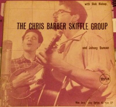 """Chris Barber Skiffle Group & Johnny Duncan with Dick Bishop 1956 EP 7"""" 45rpm"""
