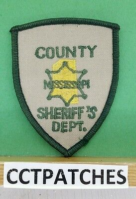 County, Mississippi Sheriff Small (Police) Shoulder Patch Ms