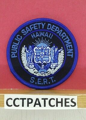 Hawaii Public Safety Sert Blue Subdued (Police) Small Shoulder Patch Hi