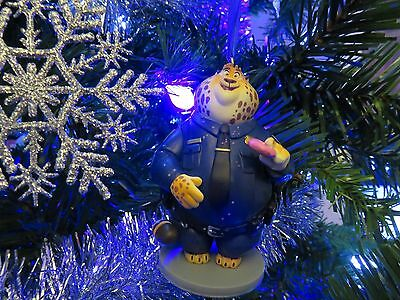Disney Zootopia Custom Made Officer Clawhauser Pvc Christmas Ornament