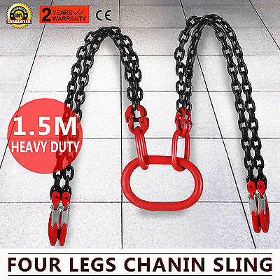 5 Foot Grade 80 4 Legs Chain Slings 4Xshortening  & 4Xsafety Hook Lifting Chain