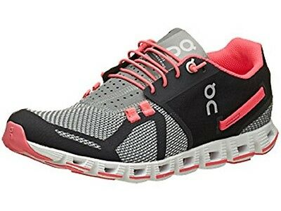 Women's On Running, Cloud Running Shoes, Grey/Neon Pink