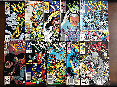 Classic X-Men Comic Lot 10 Issues Marvel Comics 22 23 24 25 26 27 28 29 30 31