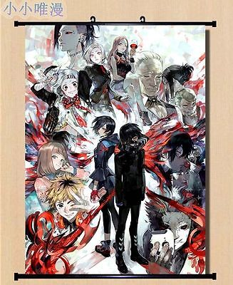 Home Decor Poster Tokyo Ghoul Ken Kaneki Wall Scroll Cool Anime Cosplay 30*45cm