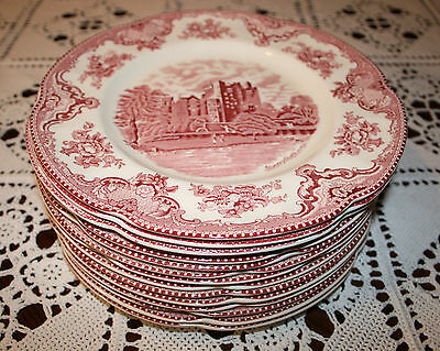 "Johnson Brothers, Old Britain Castles, dinner plate 10"" set of 14  1930s"