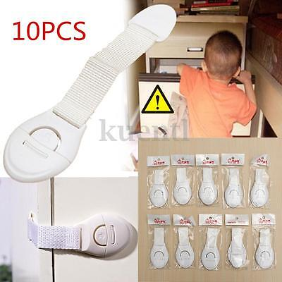 10X Child Baby Safety Locks Proof Fridged Door For Cabinets Drawers Toilets USA