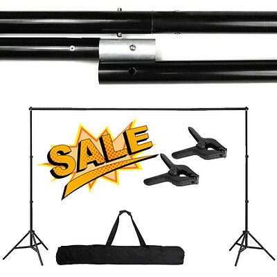 Photography Adjustable 10Ft Background Support Stand Photo Crossbar Studio Kit @
