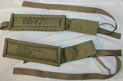 Post Vietnam Era Us Army Lc-2 Left & Right Hand Padded Shoulder Straps