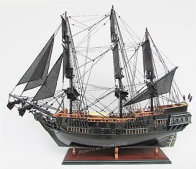 """Black Pearl Caribbean Pirate Tall Ship 37"""" - Handcrafted Wooden Model"""