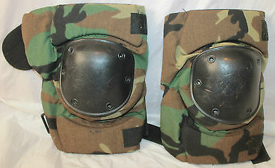 Us Military Style Bijan's Protective Equipment Bpe-Usa Woodland Camo Kneepads M