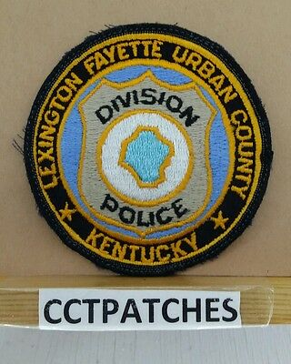 Lexington Fayette Urban County, Kentucky Police Shoulder Patch Ky