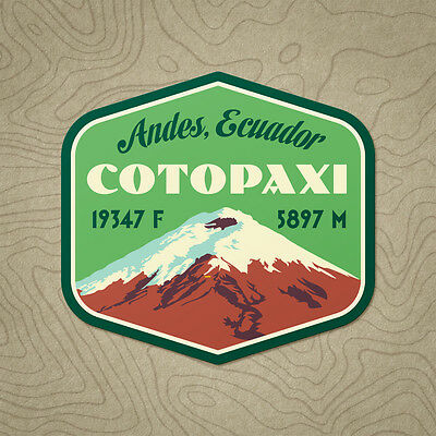 Cotopaxi Mountain Decal Sticker