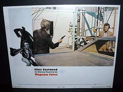 Magnum Force Clint Eastwood  1973 11x14 Original U.S lobby card #2 in Toploader