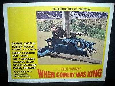 When Comedy Was King   1960 11x14 Original U.S lobby card #6 in Toploader