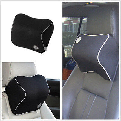 Car Seat Headrest Pad Memory Foam Travel Pillow Cushion Head Neck Support Soft