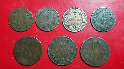 Coin setfrom Romania, Italy and France 1800s