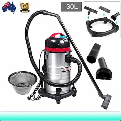 Industrial Commercial Domesti Stainless Steel Bagless Dry Wet Vacuum Cleaner 30L