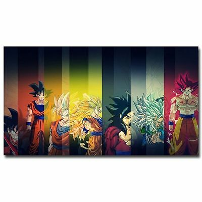 Goku - Dragon Ball Z Anime Art Silk Poster 24x36inch