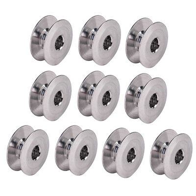 10pcs Aluminum Bobbins Industrial Sewing Machine Tools 21mm for Singer Brother
