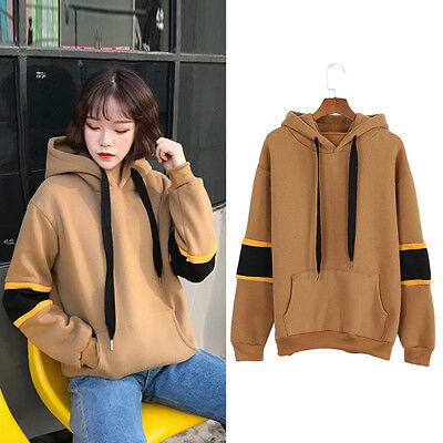 Letter Print Patchwork Sleeve Sweatshirt Hoodie Hooded Top Casual Fashion 1 Pc