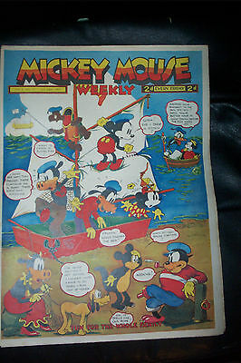 1936 DISNEY SERIES ORIGINAL MICKEY MOUSE PLATINUM COMIC Vol 2 JULY24th 1937 No77
